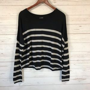 Express Long Sleeve Striped Sweater Lg